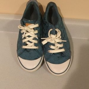 Coach shoes in teal!